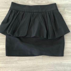 Zara Black Peplum Mini Skirt